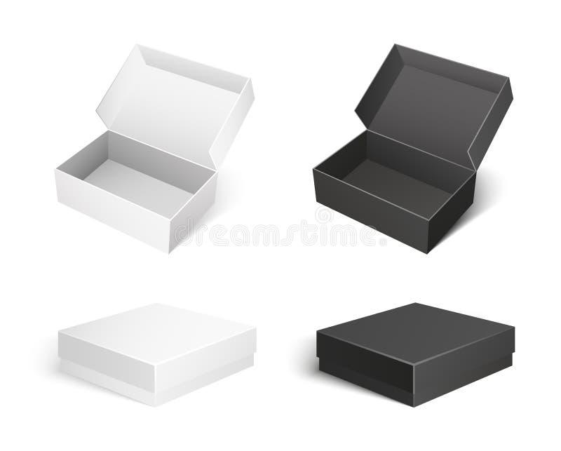 Pudełko pakunki Robić papieru i kartonu wektor ilustracji