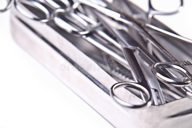 Pudełko z chirurgicznie instrumentami obraz royalty free