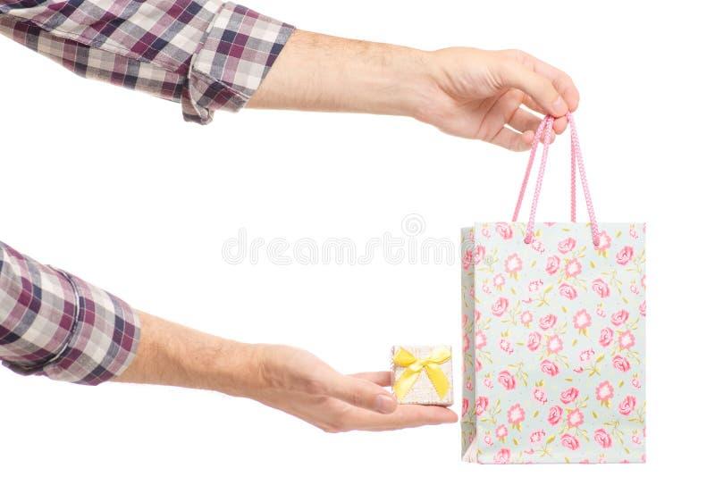 Pudełko z pierścionkiem i prezent zdojesteśmy zdjęcie royalty free