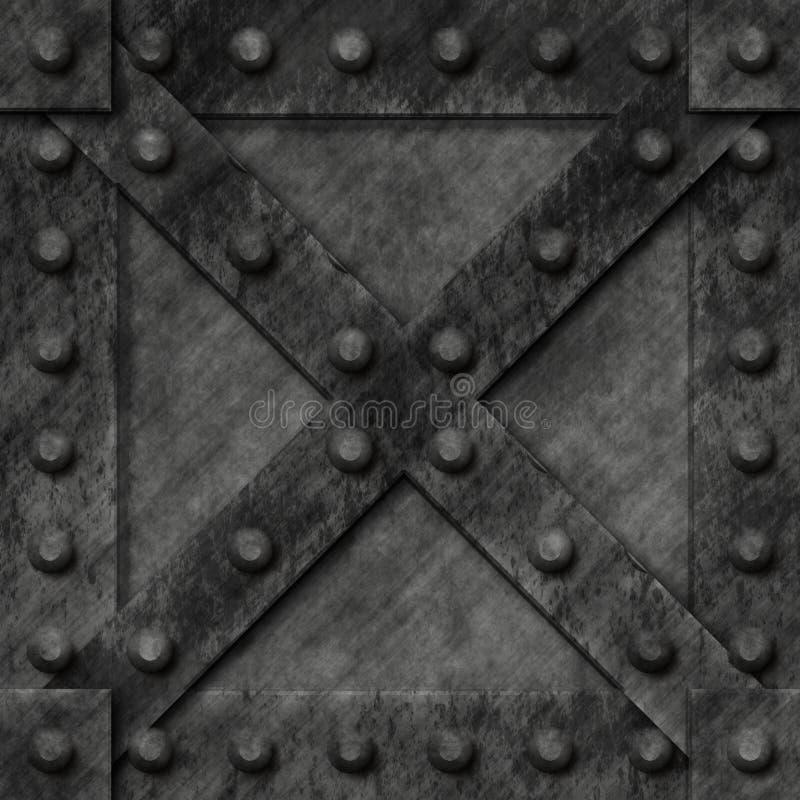 pudełko zamknięty metal silny ilustracji
