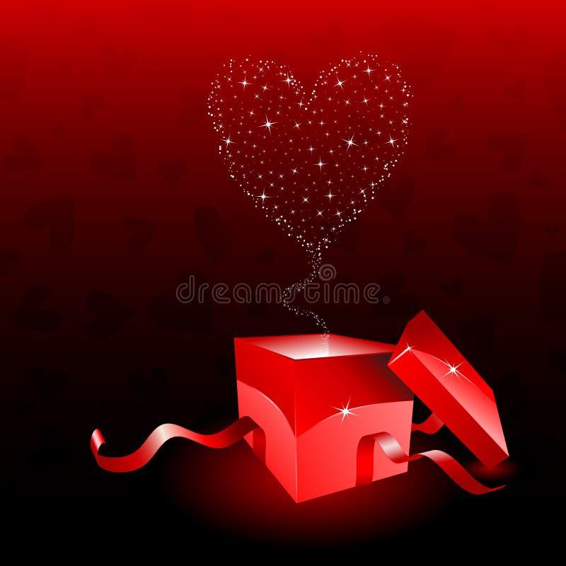 pudełkowaci dzień prezenta valentines ilustracja wektor