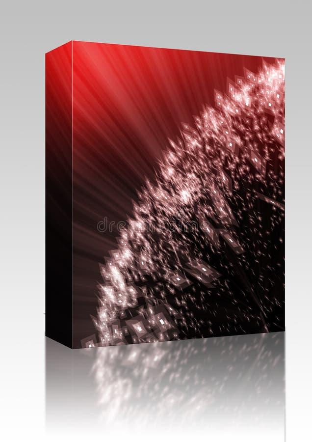pudełkowaci latania światła pakunku czerepy ilustracji