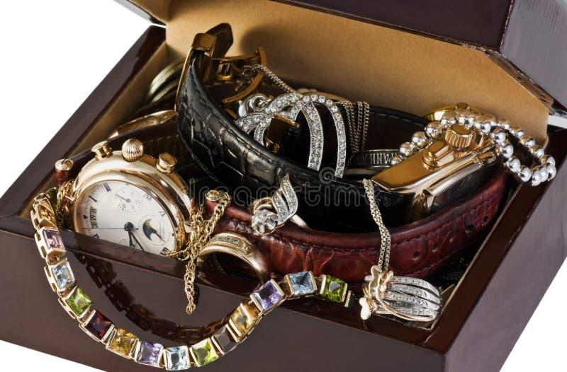 pudełkowata biżuteria zdjęcia stock