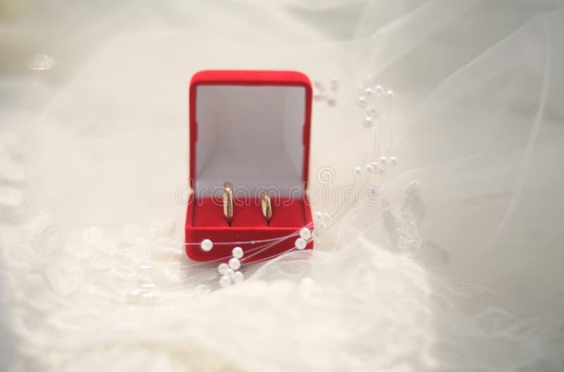 pudełkowata biżuteria dzwoni ślub obrazy royalty free