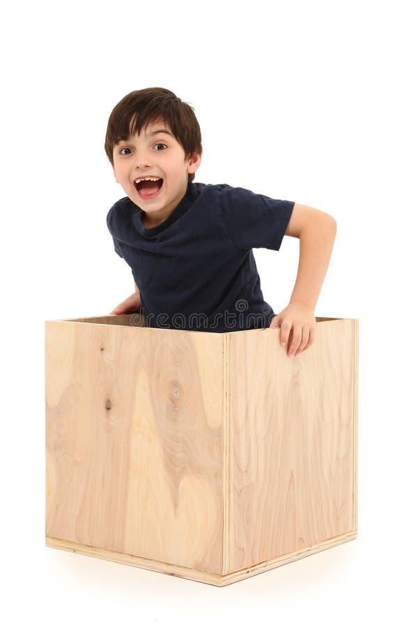 pudełkowata chłopiec zdjęcia stock