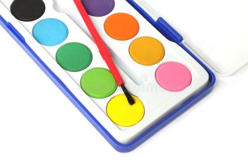 pudełkowata dzieci koloru paleta zdjęcia royalty free