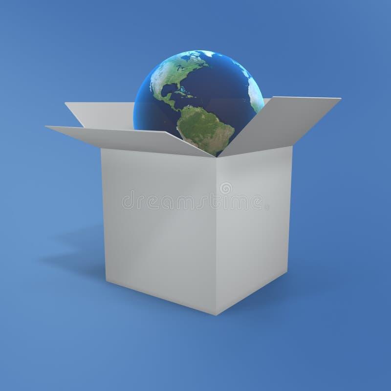 pudełkowata globe otwarta ilustracja wektor
