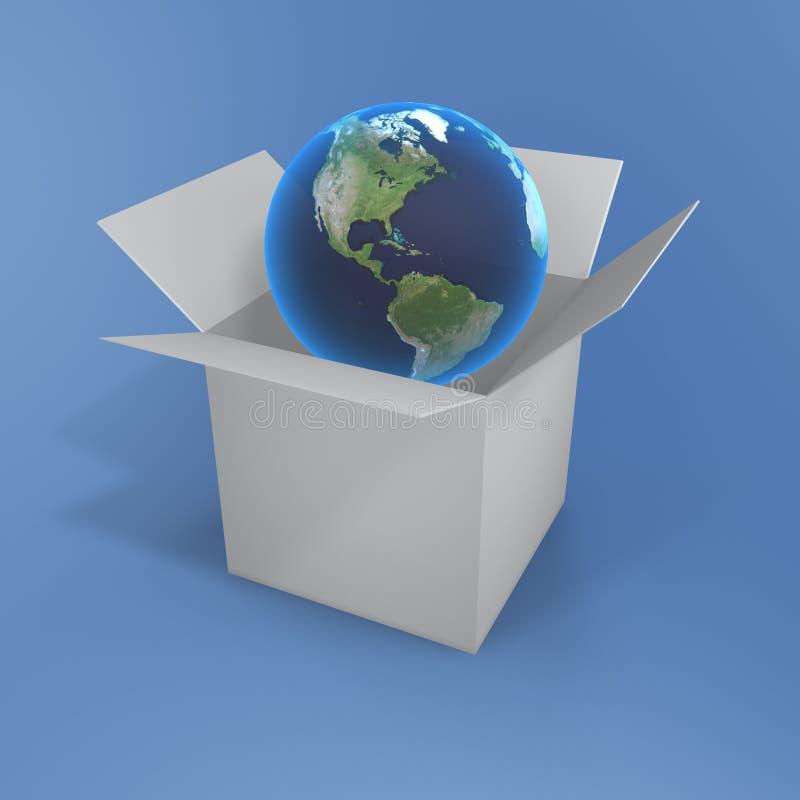 pudełkowata globe otwarta obrazy stock