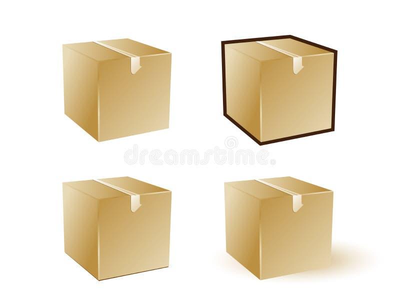 pudełkowata ikony ilustracja wektor