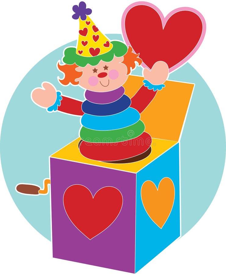 pudełkowata jack serca royalty ilustracja