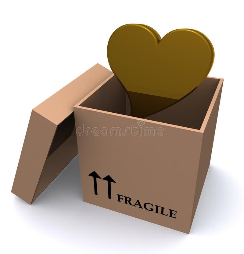 pudełkowata kierowa miłość royalty ilustracja