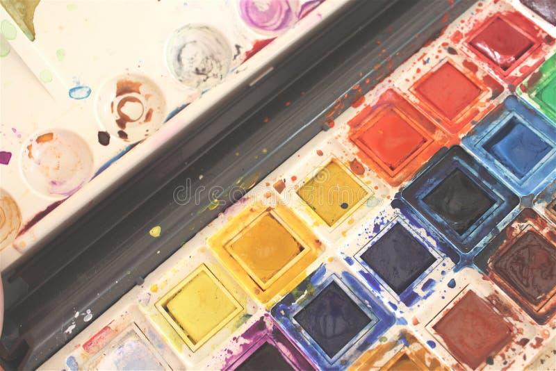 pudełkowata kolor farby wody obrazy royalty free