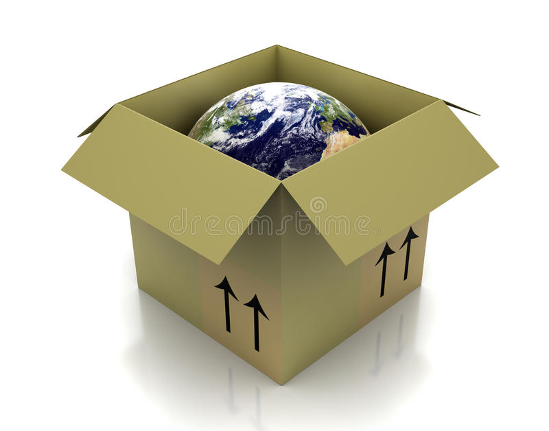 pudełkowata kula ziemska ilustracja wektor