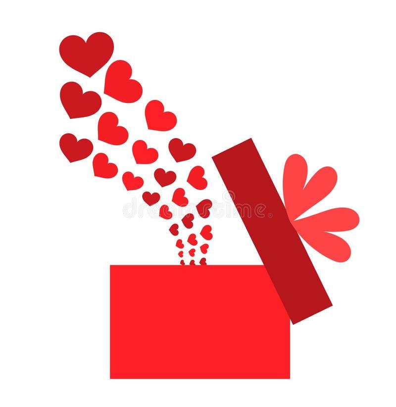 pudełkowata miłość royalty ilustracja