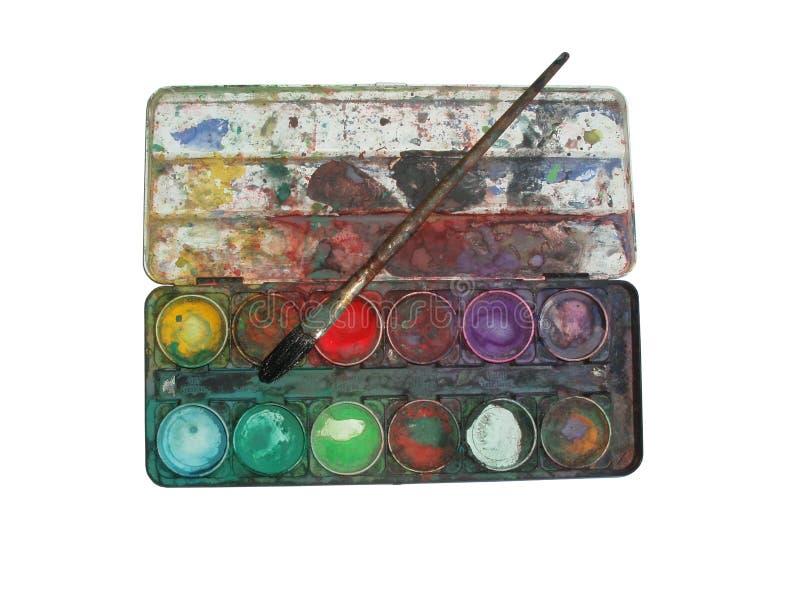 pudełkowata paleta kolorów obraz royalty free
