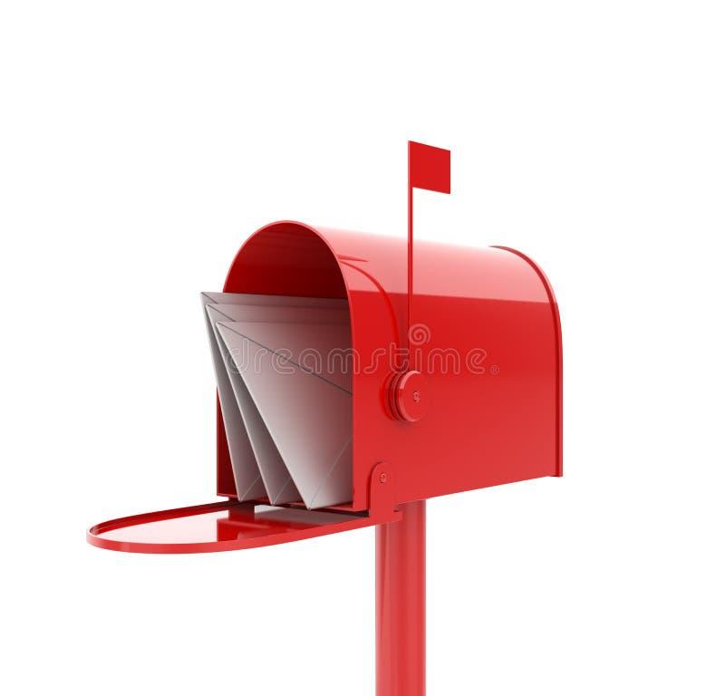 pudełkowata poczta royalty ilustracja