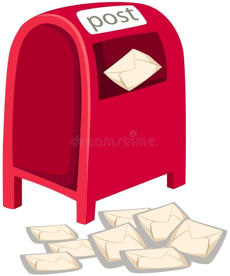 pudełkowata poczta ilustracja wektor