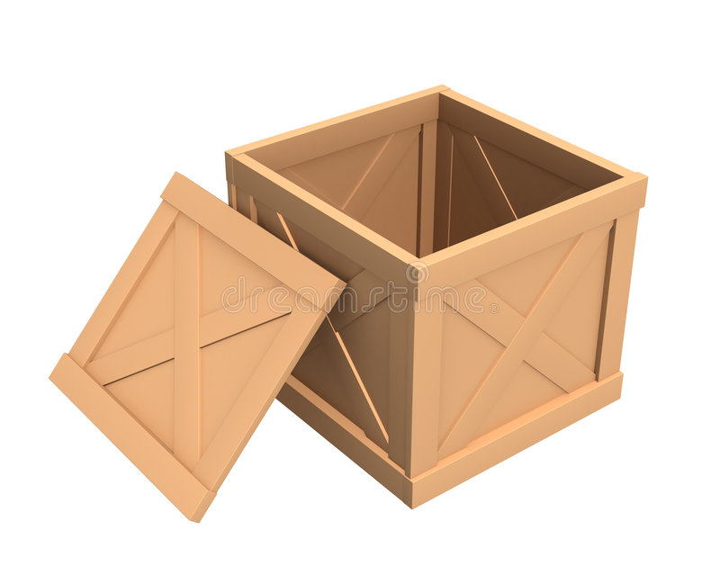 pudełkowata pokrywa pusta otwiera listy sendings ilustracji