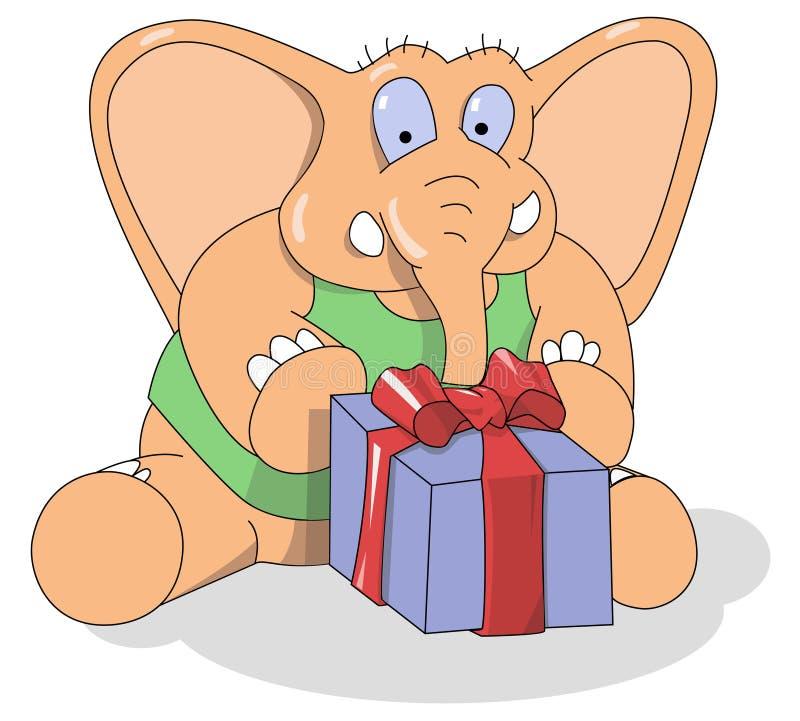 pudełkowata słonia trochę teraźniejszość obrazy stock