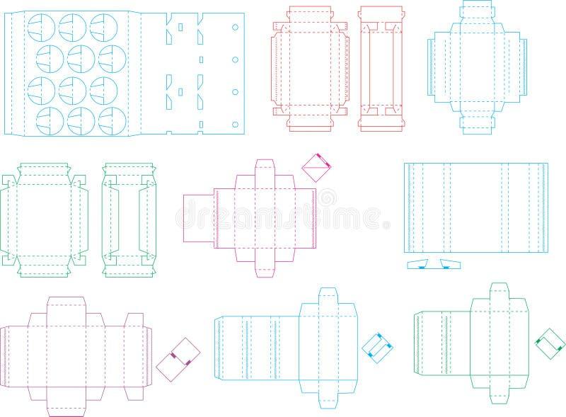 Pudełkowata szablon kolekcja 08 eps royalty ilustracja