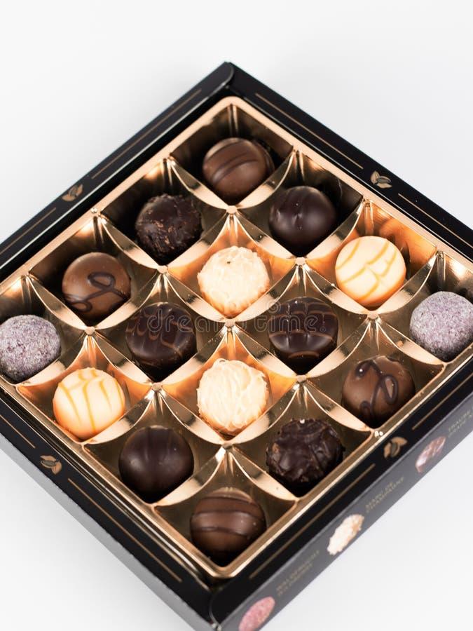 pudełkowate czekoladki zdjęcie royalty free
