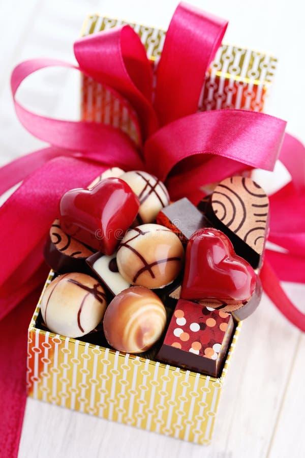 pudełkowate czekoladki fotografia stock
