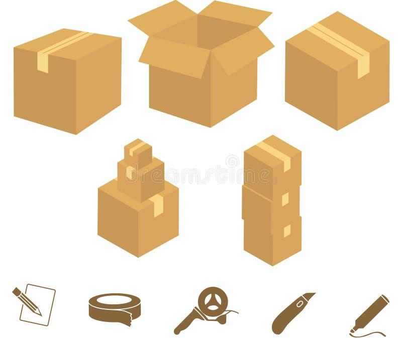 Pudełkowate Grafika ilustracja wektor