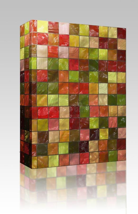 pudełkowate kolorowe pakunku wzoru płytki ilustracja wektor