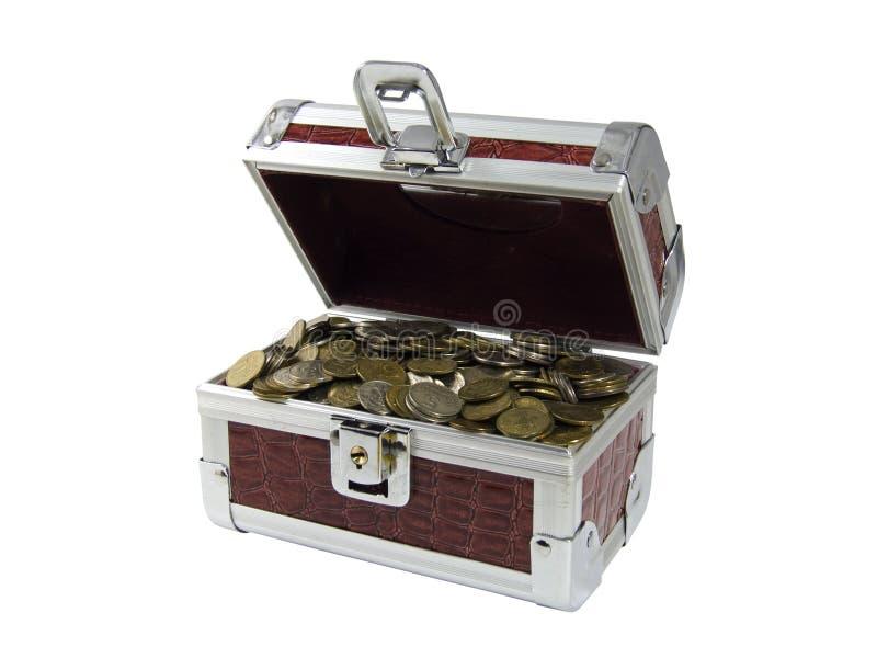pudełkowate monety obraz stock