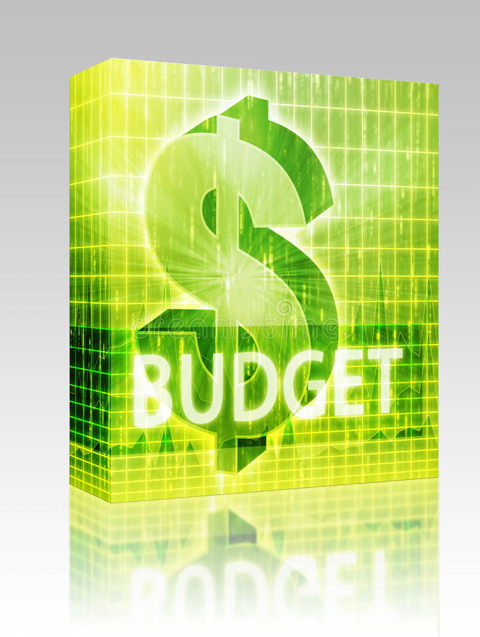 pudełkowatego budżeta finanse ilustracyjny pakunek ilustracji
