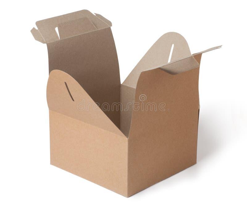 Download Pudełkowatego Kartonu Odosobneni Cienie Biały Obraz Stock - Obraz złożonej z paczka, otwarty: 41953379