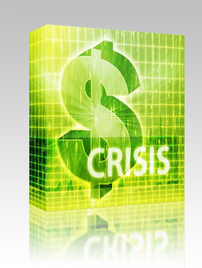 pudełkowatego kryzysu finanse ilustracyjny pakunek royalty ilustracja