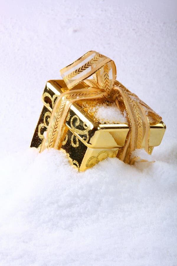 pudełkowaty śnieg obrazy royalty free