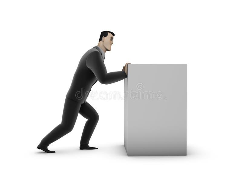 pudełkowaty biznesmen ilustracja wektor