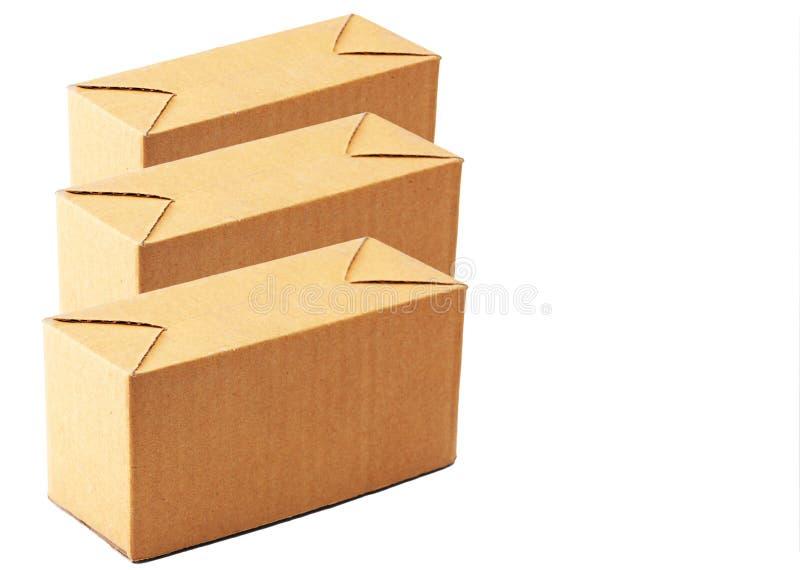 pudełkowaty brąz trzy zdjęcie royalty free