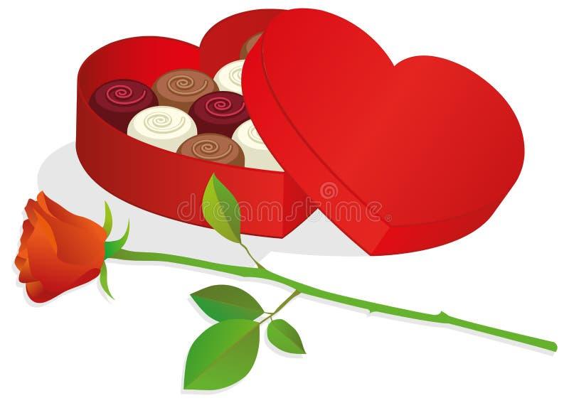 pudełkowaty chocolat ilustraci wektor ilustracja wektor