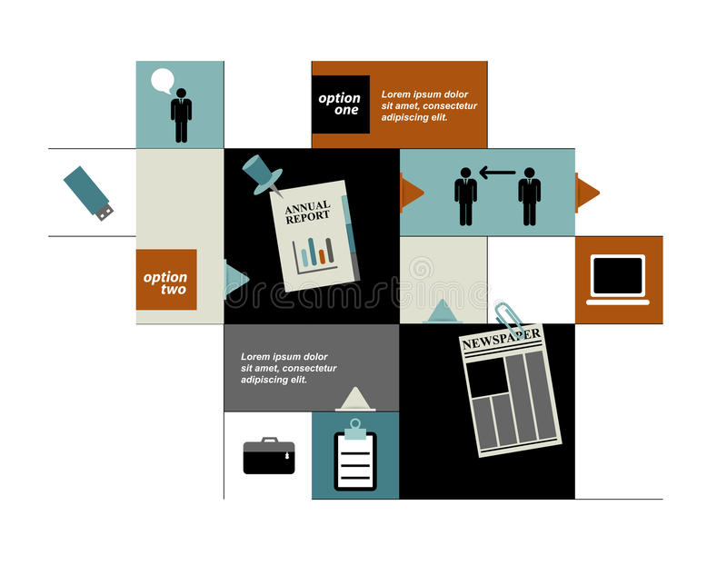 Pudełkowaty diagram dla infographics royalty ilustracja