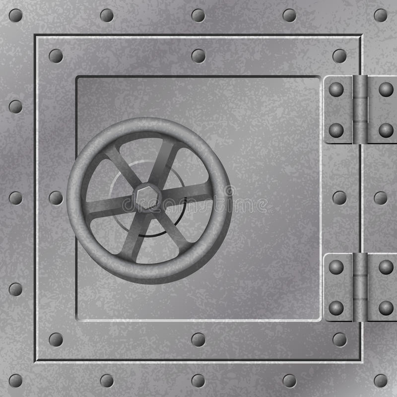 pudełkowaty drzwiowy silny ilustracja wektor