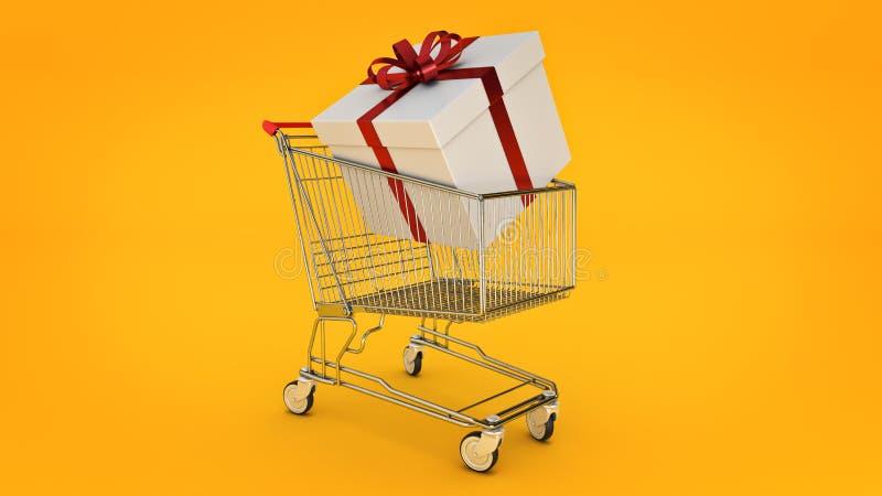 pudełkowaty fury prezenta zakupy Prezenta pudełka pojęcie ilustracji