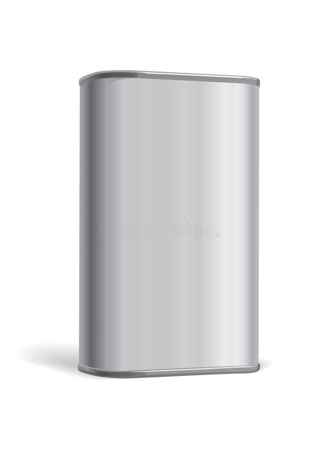 pudełkowaty metal ilustracja wektor