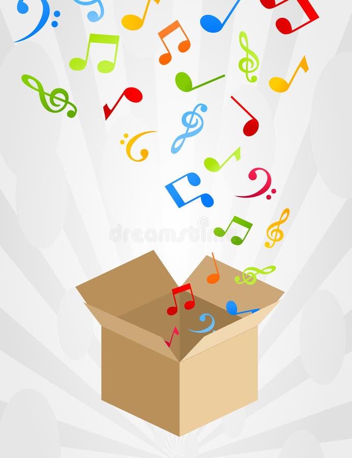 pudełkowaty musical ilustracji
