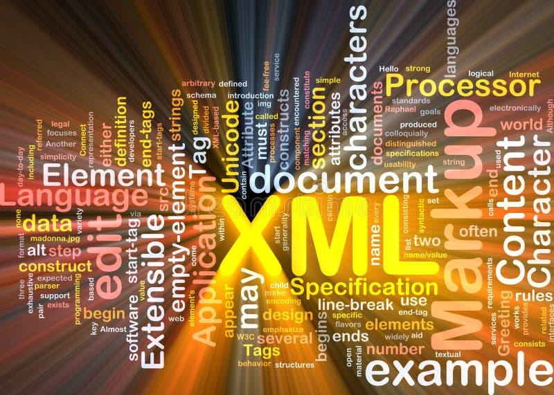 pudełkowaty obłoczny pakunku słowa xml ilustracji