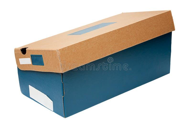 pudełkowaty obuwiany biel obraz stock