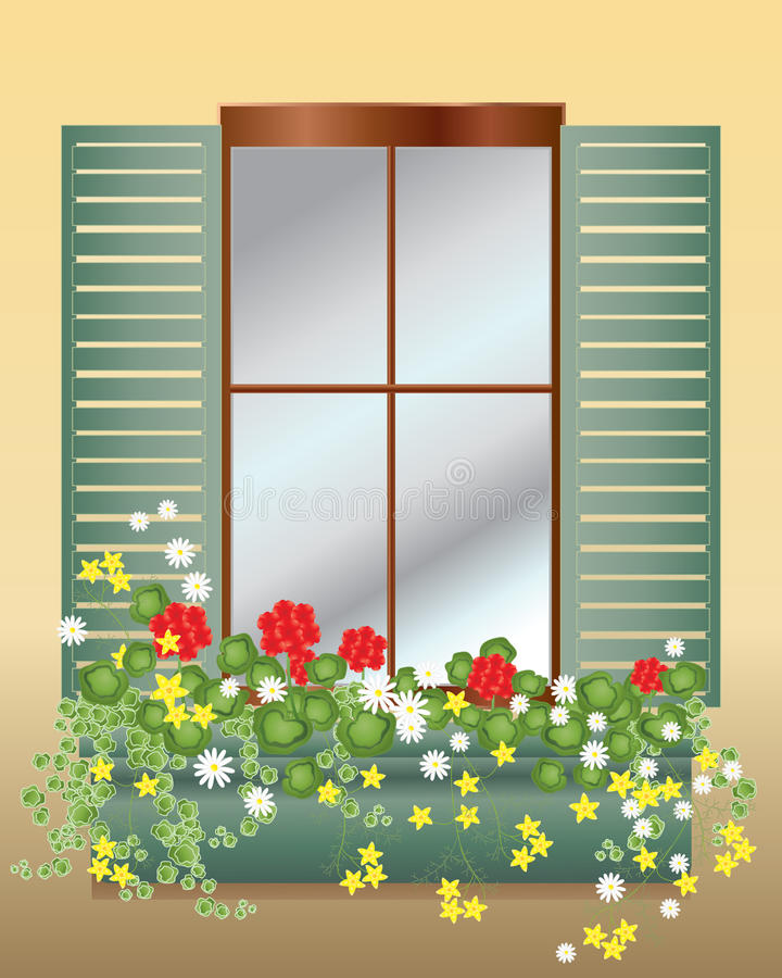 pudełkowaty okno ilustracji