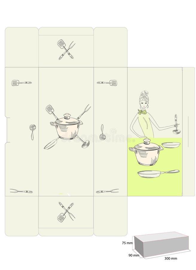 pudełkowaty oryginalny szablon royalty ilustracja