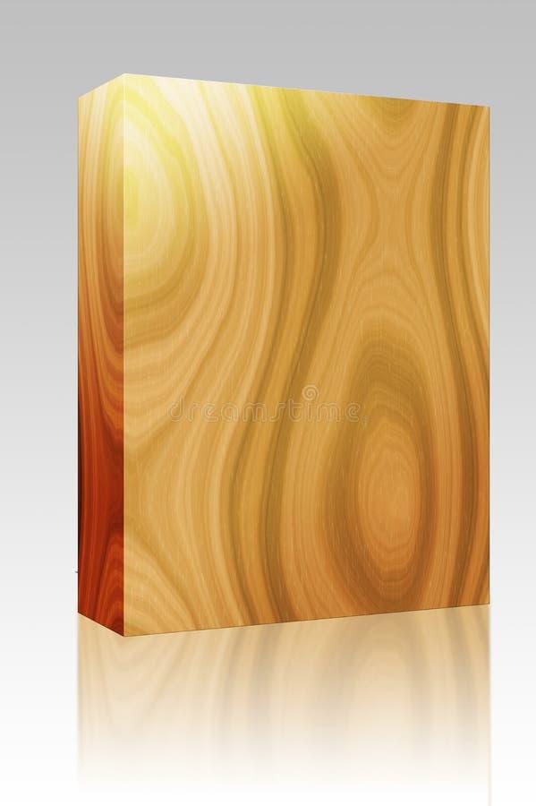 pudełkowaty pakunku tekstury drewno ilustracja wektor