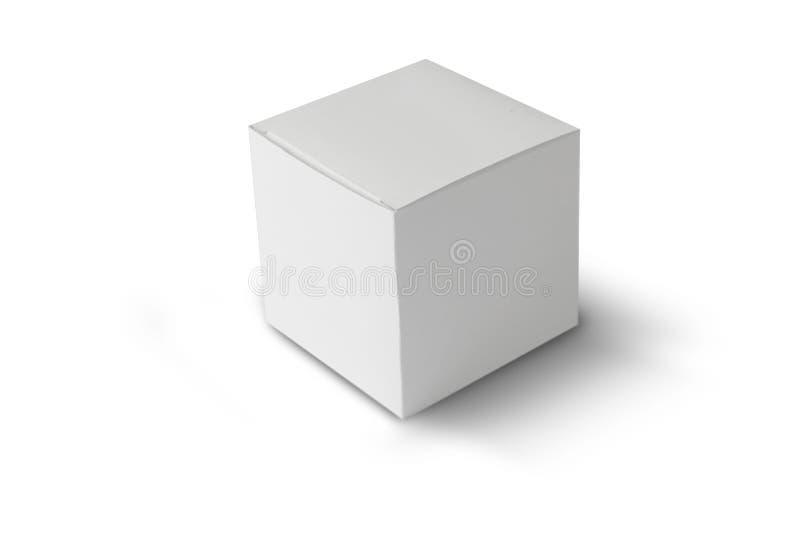 pudełkowaty papierowy biel fotografia royalty free
