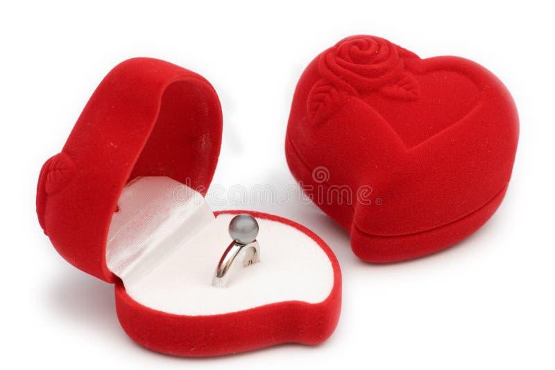 pudełkowaty pierścionek zdjęcie royalty free