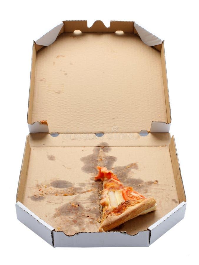 pudełkowaty pizzy plasterka takeaway zdjęcia stock