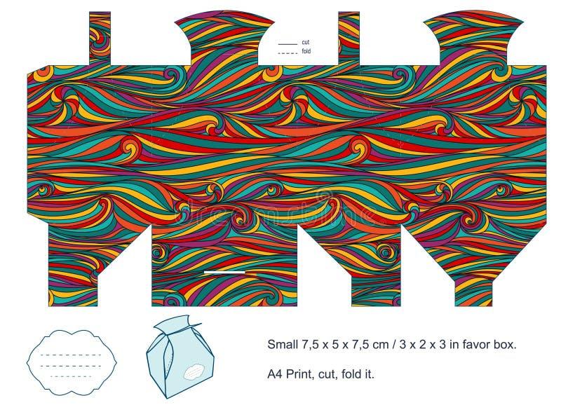 Pudełkowaty prezenta szablon ilustracja wektor